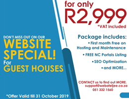 Website Special for Guest Houses | Kanoneiland Accommodation, Business & Tourism Portal